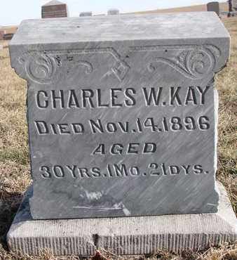 KAY, CHARLES W. - Cuming County, Nebraska | CHARLES W. KAY - Nebraska Gravestone Photos
