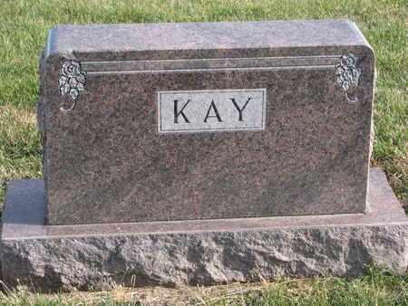 KAY, (FAMILY MONUMENT) - Cuming County, Nebraska | (FAMILY MONUMENT) KAY - Nebraska Gravestone Photos
