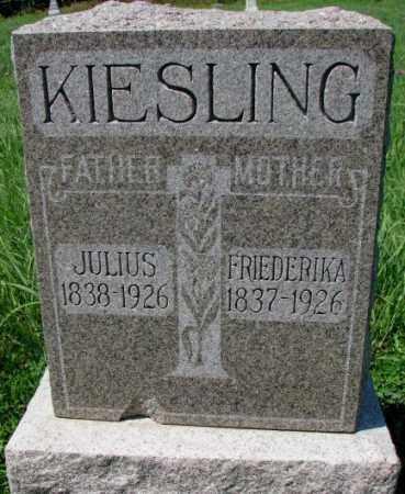 KIESLING, JULIUS - Cuming County, Nebraska | JULIUS KIESLING - Nebraska Gravestone Photos
