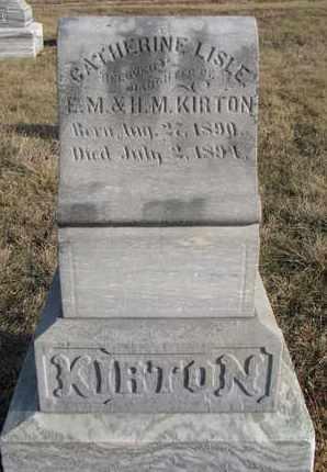 KIRTON, CATHERINE LISLE - Cuming County, Nebraska | CATHERINE LISLE KIRTON - Nebraska Gravestone Photos