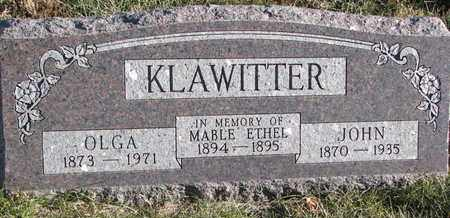 KLAWITTER, MABLE ETHEL - Cuming County, Nebraska | MABLE ETHEL KLAWITTER - Nebraska Gravestone Photos