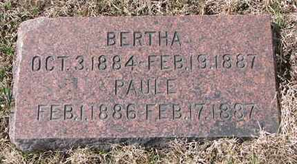 KLOKE, BERTHA - Cuming County, Nebraska | BERTHA KLOKE - Nebraska Gravestone Photos