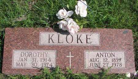 KLOKE, ANTON - Cuming County, Nebraska   ANTON KLOKE - Nebraska Gravestone Photos