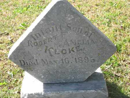 KLOKE, INFANT SON - Cuming County, Nebraska | INFANT SON KLOKE - Nebraska Gravestone Photos