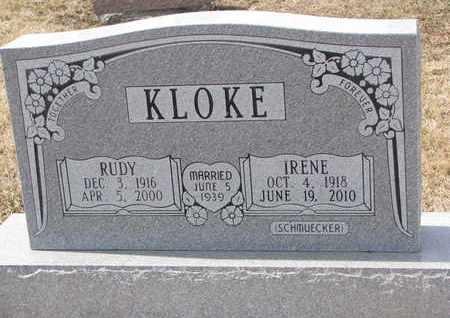 KLOKE, IRENE - Cuming County, Nebraska | IRENE KLOKE - Nebraska Gravestone Photos