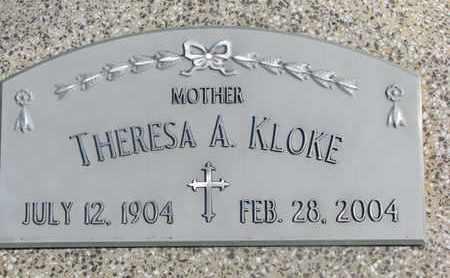 KLOKE, THERESA A. - Cuming County, Nebraska | THERESA A. KLOKE - Nebraska Gravestone Photos