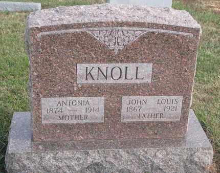KNOLL, ANTONIA - Cuming County, Nebraska | ANTONIA KNOLL - Nebraska Gravestone Photos