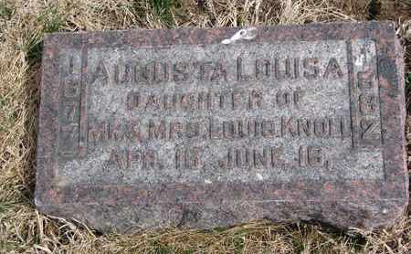 KNOLL, AUGUSTA LOUISA - Cuming County, Nebraska   AUGUSTA LOUISA KNOLL - Nebraska Gravestone Photos
