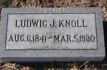 KNOLL, LUDWIG J. - Cuming County, Nebraska | LUDWIG J. KNOLL - Nebraska Gravestone Photos