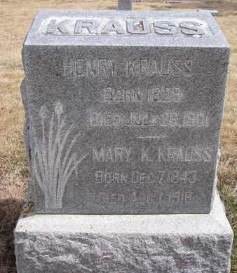 KRAUSS, HENRY - Cuming County, Nebraska | HENRY KRAUSS - Nebraska Gravestone Photos