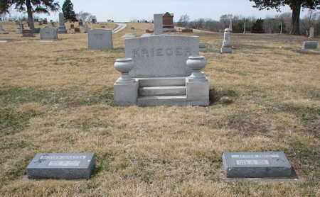 KRIEGER, (FAMILY PLOT) - Cuming County, Nebraska   (FAMILY PLOT) KRIEGER - Nebraska Gravestone Photos