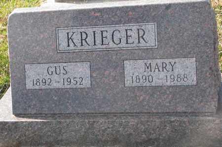 KRIEGER, GUS - Cuming County, Nebraska | GUS KRIEGER - Nebraska Gravestone Photos