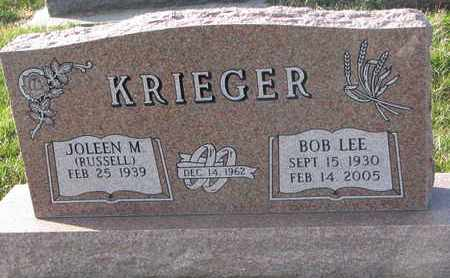 KRIEGER, BOB LEE - Cuming County, Nebraska | BOB LEE KRIEGER - Nebraska Gravestone Photos