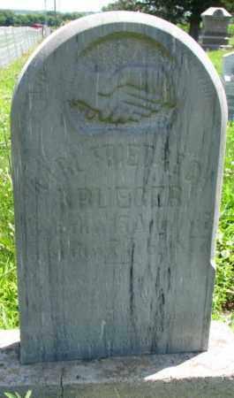 KRUEGER, KARL FRIEDRECH - Cuming County, Nebraska   KARL FRIEDRECH KRUEGER - Nebraska Gravestone Photos