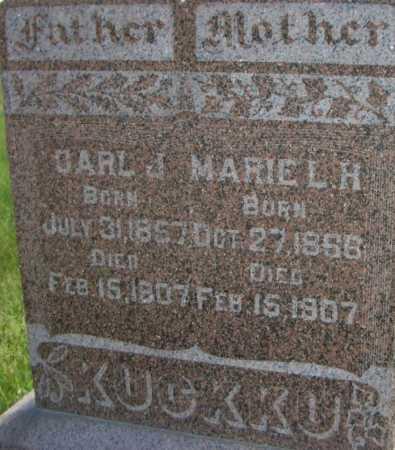 SCHULZ KUCKKU, MARIE L H - Cuming County, Nebraska | MARIE L H SCHULZ KUCKKU - Nebraska Gravestone Photos