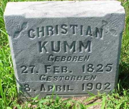KUMM, CHRISTIAN - Cuming County, Nebraska | CHRISTIAN KUMM - Nebraska Gravestone Photos