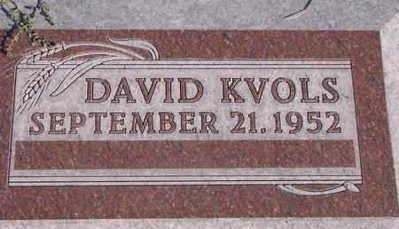 KVOLS, DAVID - Cuming County, Nebraska   DAVID KVOLS - Nebraska Gravestone Photos