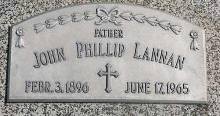 LANNAN, JOHN PHILLIP - Cuming County, Nebraska | JOHN PHILLIP LANNAN - Nebraska Gravestone Photos