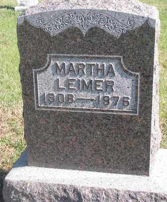LEIMER, MARTHA - Cuming County, Nebraska | MARTHA LEIMER - Nebraska Gravestone Photos