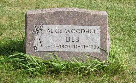 WOODHULL LIEB, ALICE - Cuming County, Nebraska   ALICE WOODHULL LIEB - Nebraska Gravestone Photos