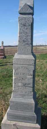 LIERMANN, EMILIE - Cuming County, Nebraska | EMILIE LIERMANN - Nebraska Gravestone Photos