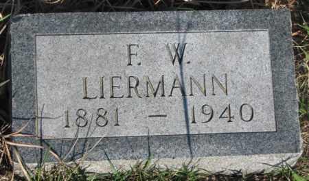 LIERMANN, F.W. - Cuming County, Nebraska | F.W. LIERMANN - Nebraska Gravestone Photos