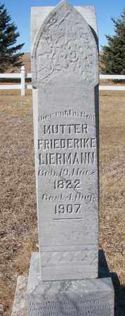 LIERMANN, FRIEDERIKE - Cuming County, Nebraska | FRIEDERIKE LIERMANN - Nebraska Gravestone Photos