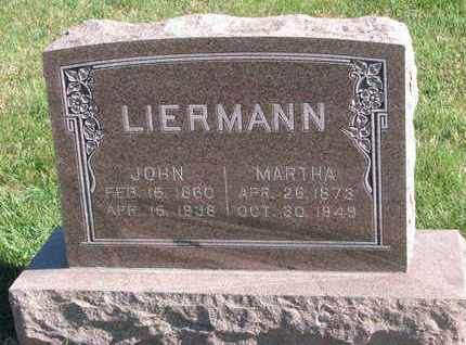 LIERMANN, MARTHA - Cuming County, Nebraska | MARTHA LIERMANN - Nebraska Gravestone Photos