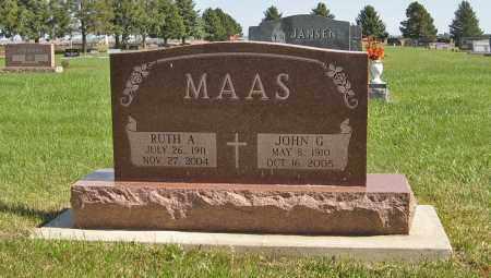 MAAS, JOHN G. - Cuming County, Nebraska | JOHN G. MAAS - Nebraska Gravestone Photos