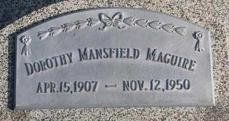 MANSFIELD MAGUIRE, DOROTHY - Cuming County, Nebraska   DOROTHY MANSFIELD MAGUIRE - Nebraska Gravestone Photos