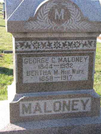 MALONEY, GEORGE C. - Cuming County, Nebraska | GEORGE C. MALONEY - Nebraska Gravestone Photos
