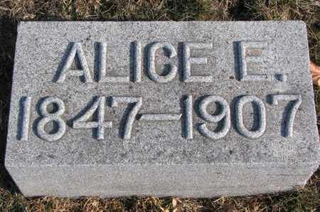 MANSFIELD, ALICE E. - Cuming County, Nebraska | ALICE E. MANSFIELD - Nebraska Gravestone Photos
