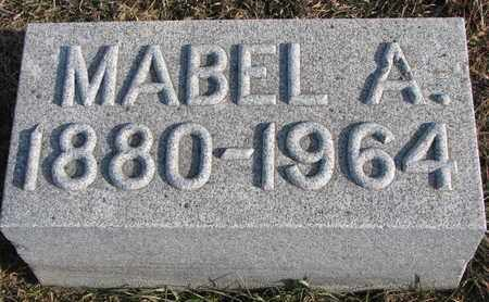 MANSFIELD, MABEL A. - Cuming County, Nebraska | MABEL A. MANSFIELD - Nebraska Gravestone Photos