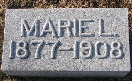 MANSFIELD, MARIE L. - Cuming County, Nebraska   MARIE L. MANSFIELD - Nebraska Gravestone Photos