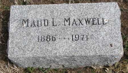 MAXWELL, MAUD L. - Cuming County, Nebraska   MAUD L. MAXWELL - Nebraska Gravestone Photos