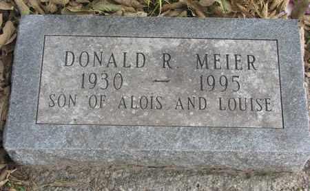 MEIER, DONALD R. - Cuming County, Nebraska | DONALD R. MEIER - Nebraska Gravestone Photos