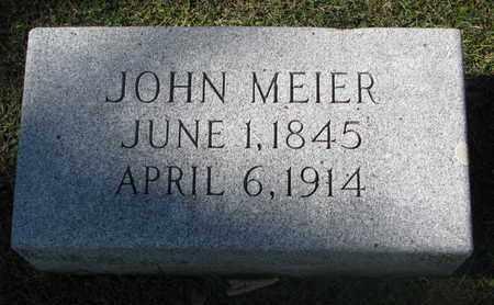 MEIER, JOHN - Cuming County, Nebraska | JOHN MEIER - Nebraska Gravestone Photos