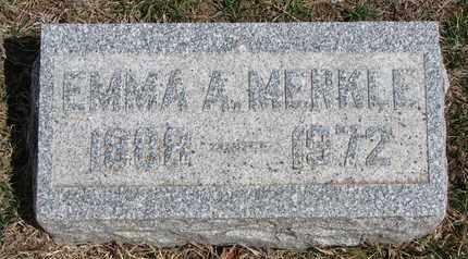 MERKLE, EMMA AMELIA - Cuming County, Nebraska | EMMA AMELIA MERKLE - Nebraska Gravestone Photos