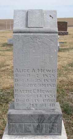MEWIS, ALICE A. - Cuming County, Nebraska | ALICE A. MEWIS - Nebraska Gravestone Photos