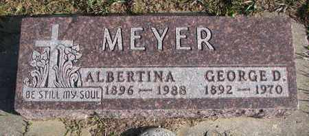 MEYER, ALBERTINA - Cuming County, Nebraska | ALBERTINA MEYER - Nebraska Gravestone Photos