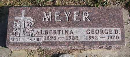MEYER, GEORGE D. - Cuming County, Nebraska | GEORGE D. MEYER - Nebraska Gravestone Photos
