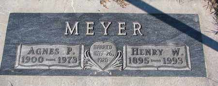 MEYER, AGNES P. - Cuming County, Nebraska | AGNES P. MEYER - Nebraska Gravestone Photos