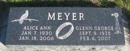 MEYER, ALICE ANN - Cuming County, Nebraska | ALICE ANN MEYER - Nebraska Gravestone Photos