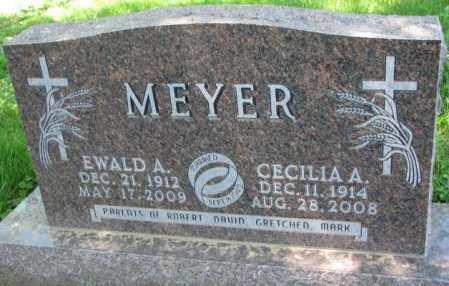 MEYER, EWALD A. - Cuming County, Nebraska | EWALD A. MEYER - Nebraska Gravestone Photos