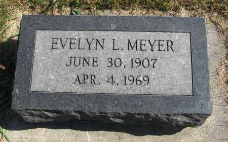 MEYER, EVELYN L. - Cuming County, Nebraska | EVELYN L. MEYER - Nebraska Gravestone Photos