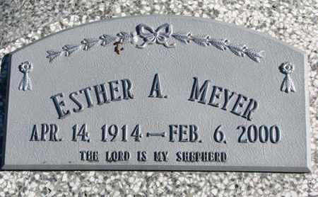 MEYER, ESTHER A. - Cuming County, Nebraska   ESTHER A. MEYER - Nebraska Gravestone Photos