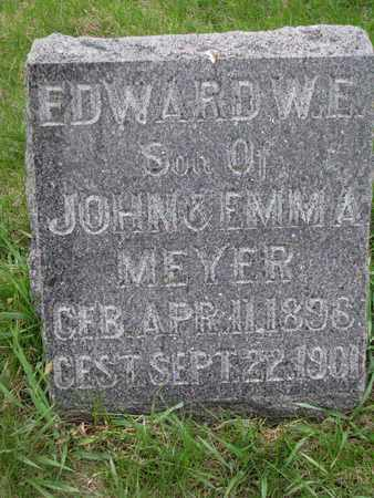 MEYER, EDWARD W.E. - Cuming County, Nebraska | EDWARD W.E. MEYER - Nebraska Gravestone Photos