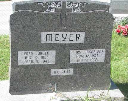 MEYER, MARY MAGDALENA - Cuming County, Nebraska | MARY MAGDALENA MEYER - Nebraska Gravestone Photos