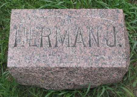 MEYER, HERMAN J. (FOOT STONE) - Cuming County, Nebraska | HERMAN J. (FOOT STONE) MEYER - Nebraska Gravestone Photos
