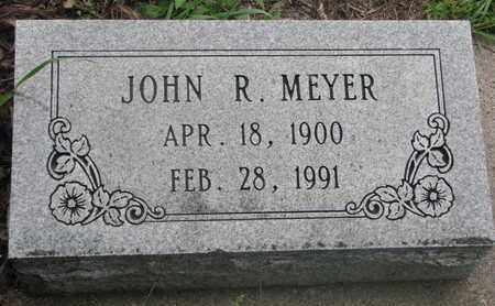 MEYER, JOHN R. - Cuming County, Nebraska | JOHN R. MEYER - Nebraska Gravestone Photos